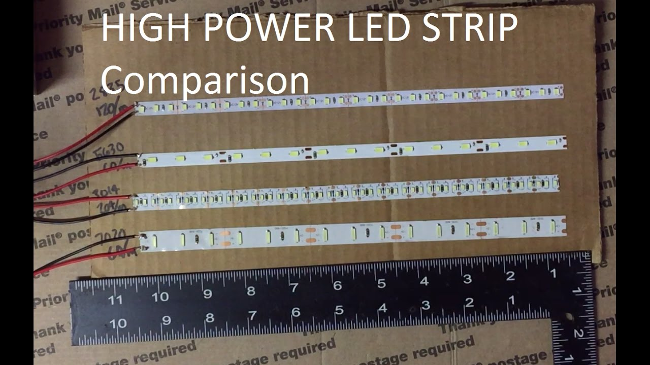2016 Led Strip Test 3014 2835 7020 5630 Youtube