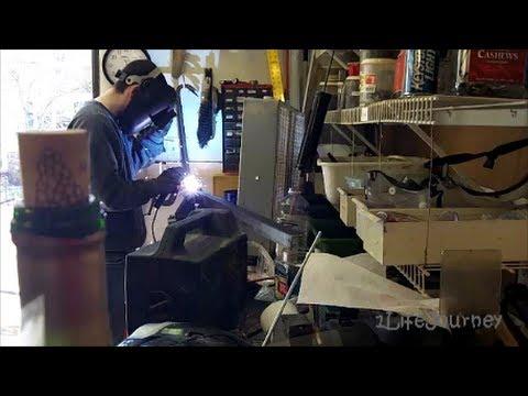 Van Build Part 5 - New Hitch and Yakima Rocket Box - Building the raised platform bed - Part 2