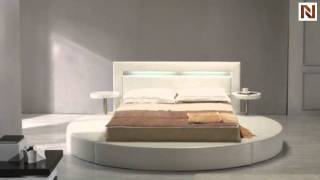 Palazzo White Leatherette Round Platform Bed Vgkc-078-wht