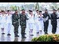 Hujan deras tak lunturkan semangat pasukan pengibar Bendera dan peserta Upacara