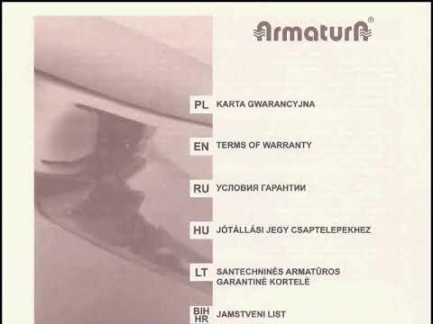 Инструкция по монтажу и обслуживанию двурычажных смесителей Armatura Kraków S.A.