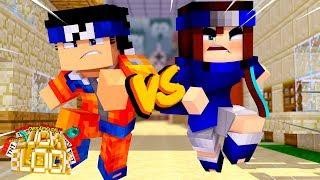 LUCAS UZUMAKI vs DINHA UCHIHA - Minecraft Desafio de Lucky Block