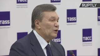 Янукович озвучил свой сценарий прекращения войны на Донбассе