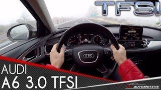 Audi A6 3.0 TFSI SUPERCHARGED POV Test Drive + Acceleration 0 - 200 km/h