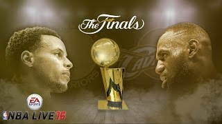 NBA Live 16 Cavaliers vs Warriors Full Game
