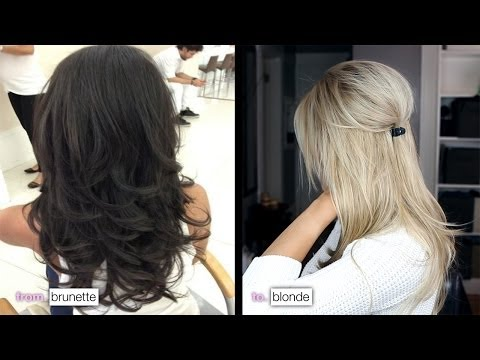 DIY from Brunette to Blonde & how I maintain my color