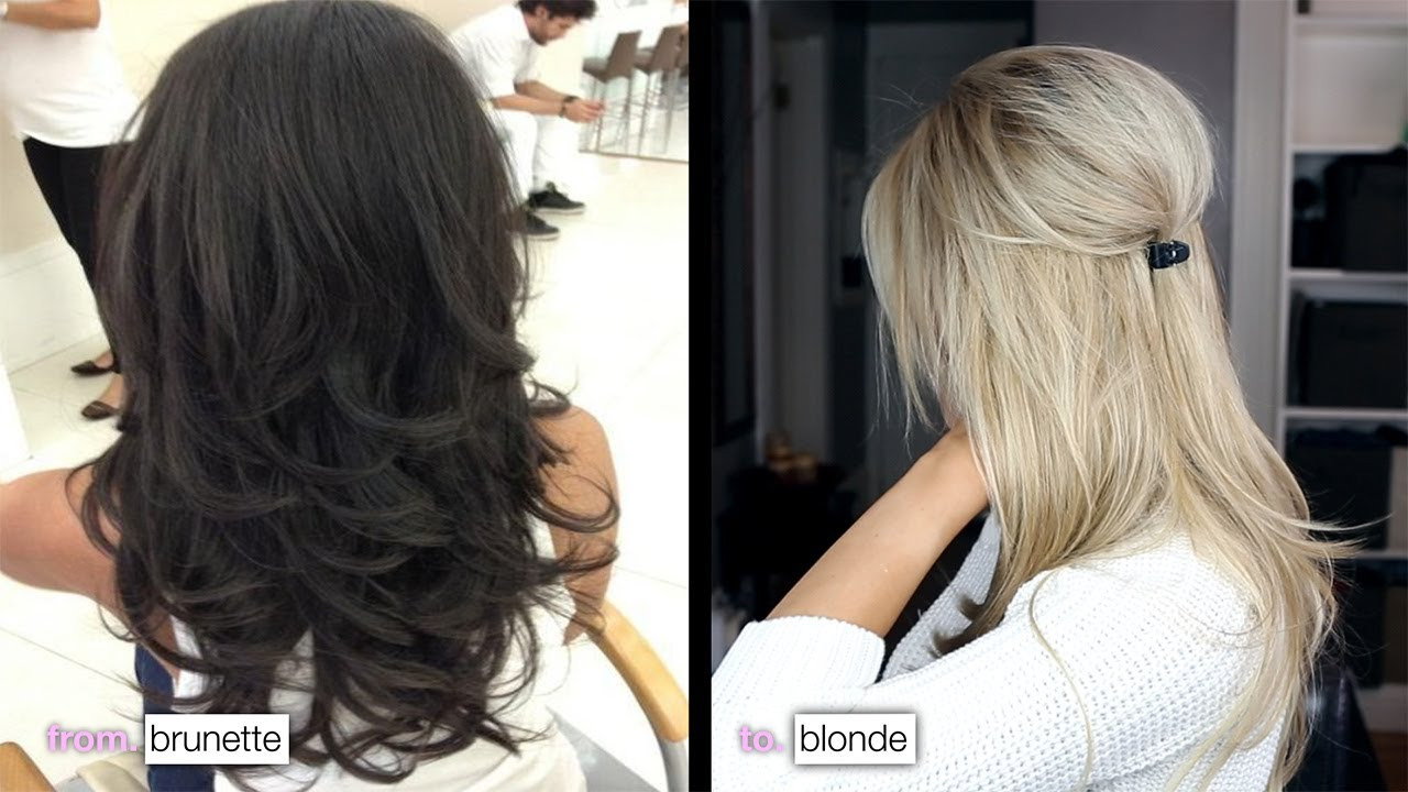 Diy from brunette to blonde how i maintain my color youtube diy from brunette to blonde how i maintain my color solutioingenieria Image collections