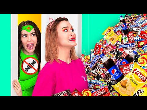 IF YOUR DIET WAS A PERSON || How To Sneak Candies From DietGirl! Funny Situations by 123 GO! FOOD
