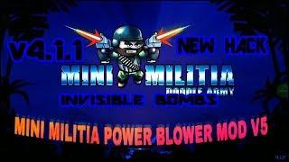 Mini Militia Power Blower Mod v5   Invisible Bombs, rocket Launcher, etc.