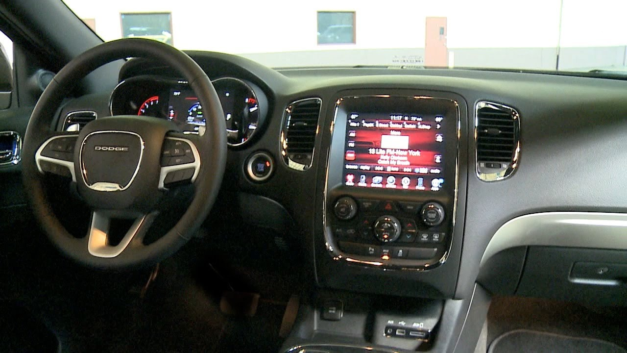 2013 Dodge Durango Rt >> 2014 Dodge Durango R/T - INTERIOR - YouTube
