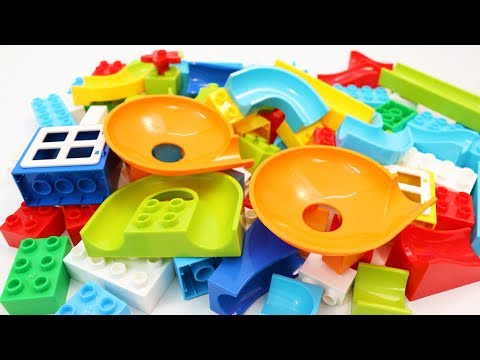 Building Blocks Toys for Children Marble Run with Plates for Kids