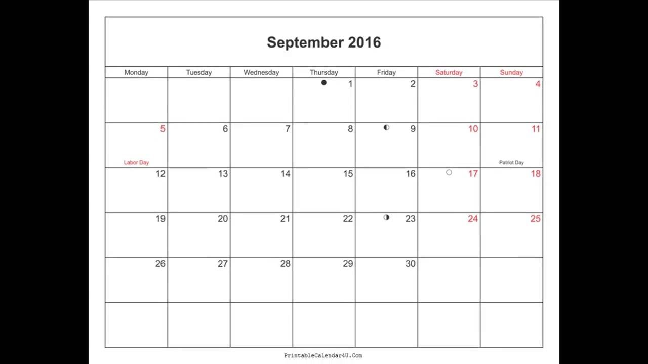 2016 Calendar With Holidays Pdf
