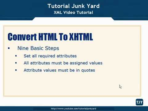 XML Tutorial   70 Convert HTML To XHTML