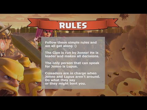 YouTube Dynasty - Clash of Clans - Clan Rules Slider