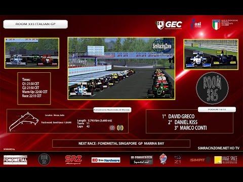 [rFactor2] [Campionato Italiano rF1] ROUND 09: Italy