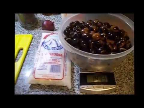 como aliñar aceitunas negras con sal