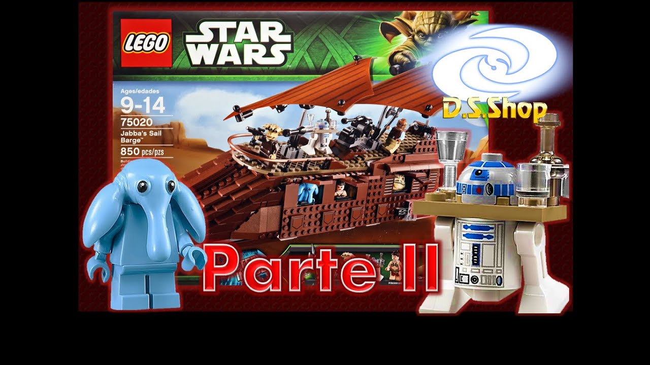 Lego Star Wars Jabba The Hutt Sail Barge Parte 2 Review Lego En Espanol Guerra De Las