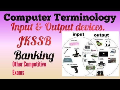 Computer Terminology | Hardware | Input & Output device for JKSSB and Banking exams| Part-2!