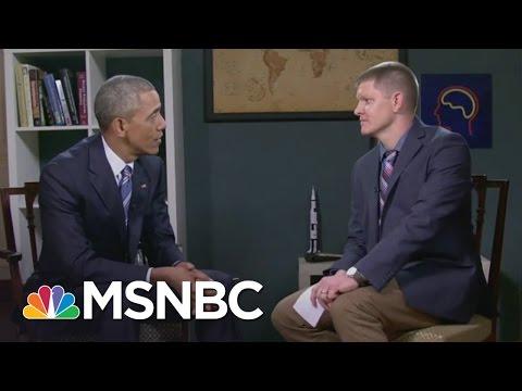 YouTube's Destin Sandlin Interview President Obama At White House | MSNBC