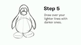 Club Penguin • Jessika Shows How to Draw a Penguin With a Coat (for Warm Coats Warm Hearts)