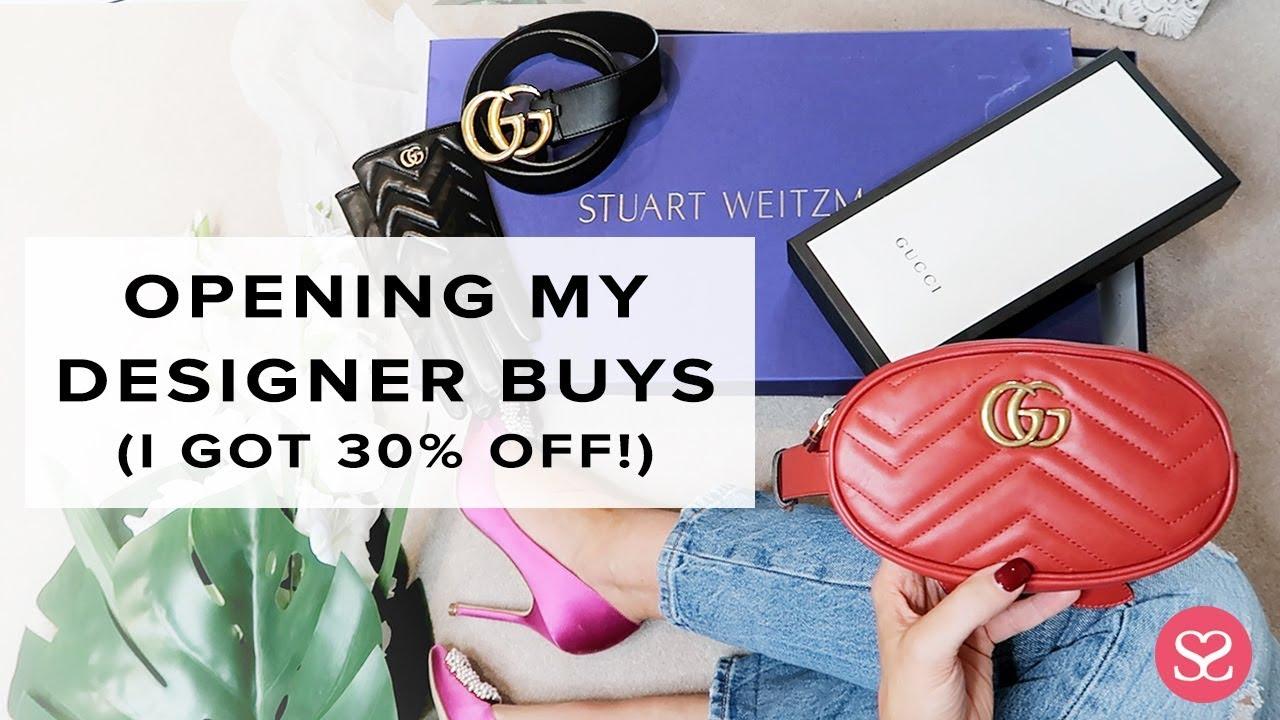fa7adcdfaef6 I GOT 30% OFF ALL THIS LUXE 😳 | Gucci, Saint Laurent, Stuart Weitzman |  Sophie Shohet