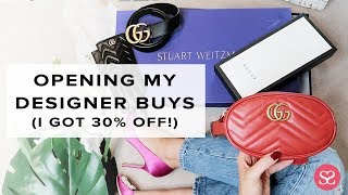I GOT 30% OFF ALL THIS LUXE ???? | Gucci, Saint Laurent, Stuart Weitzman | Sophie Shohet