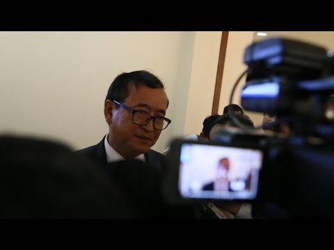 Sam Rainsy at the National Assembly