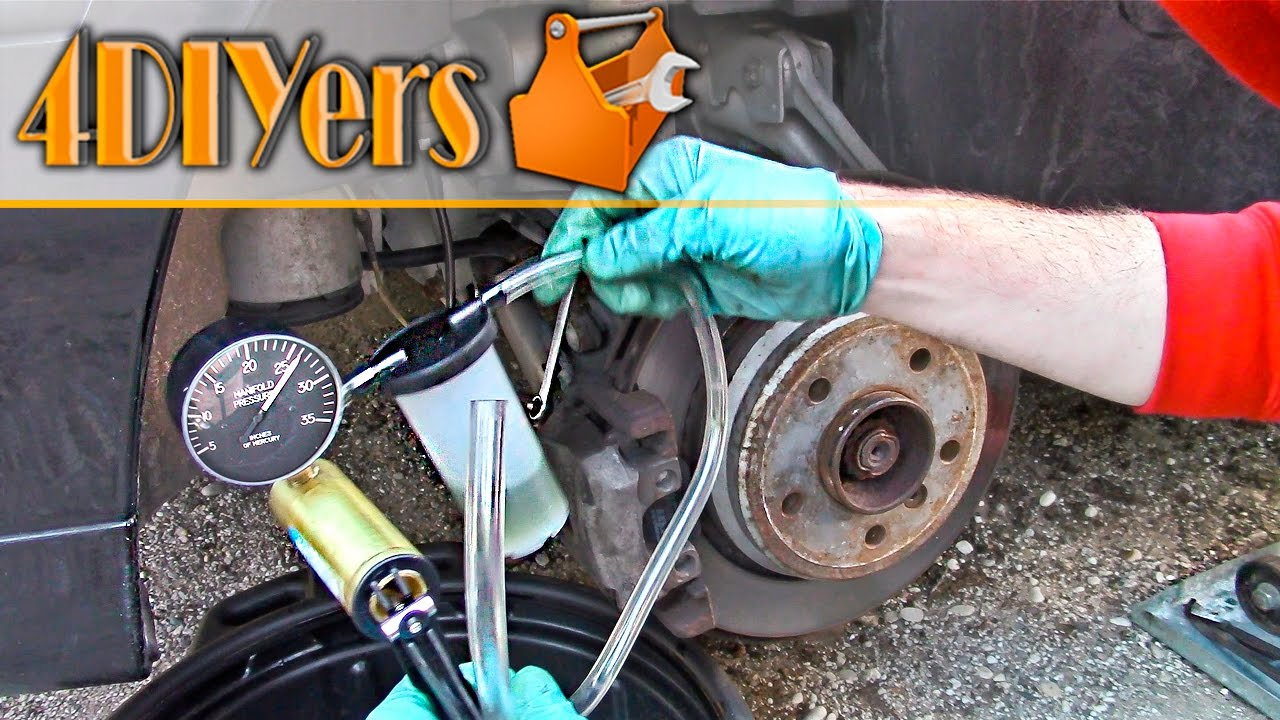 Diy How To Bleed Brakes Using A Vacuum Pump Youtube