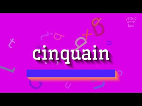 "How to say ""cinquain""! (High Quality Voices)"