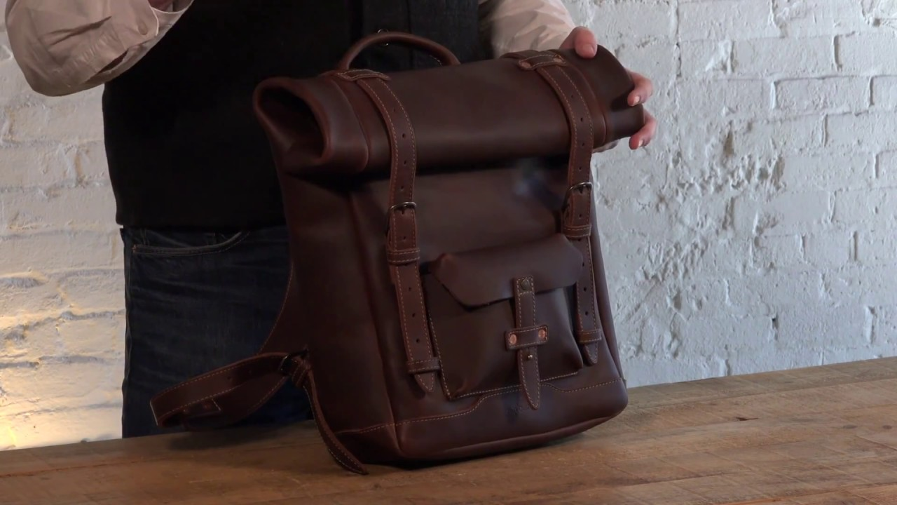 352001e194060 Heritage Rolltop Waterproof Leather Laptop Backpack Review by Pad   Quill