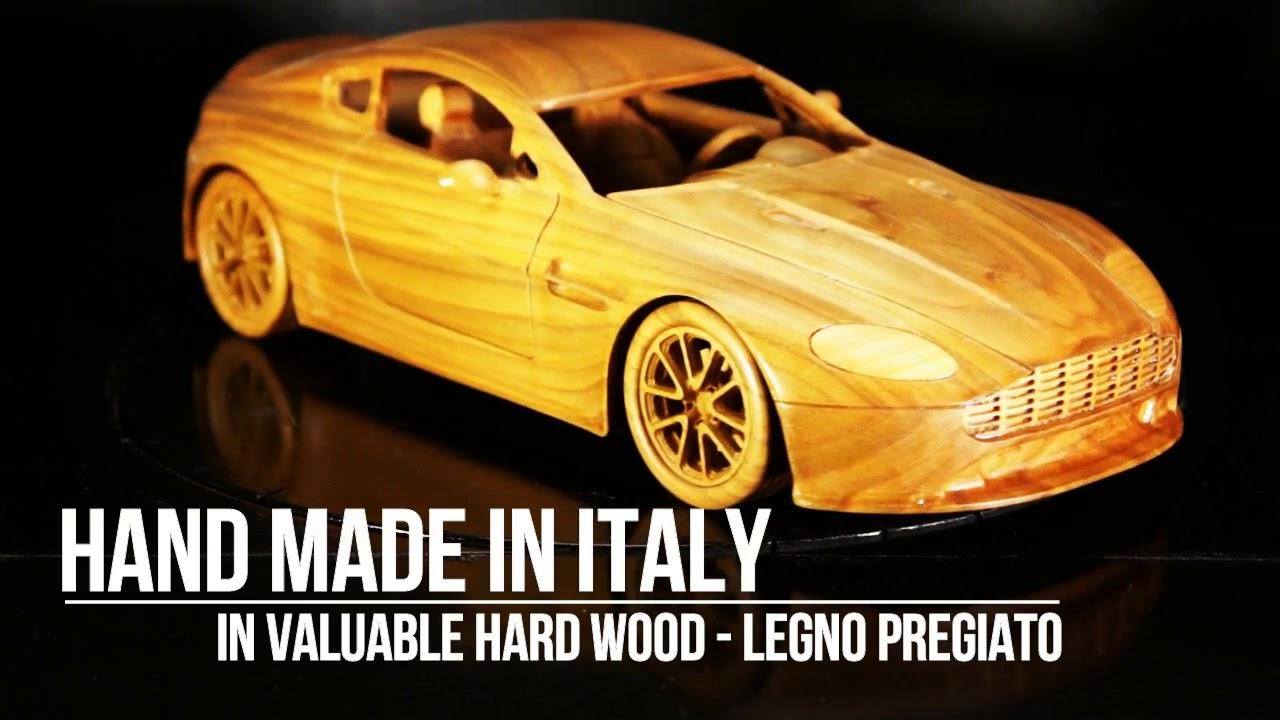 Aston Martin V8 Vantage S Handmade Wooden Car Model Modello Auto In Legno Wood Carving Youtube