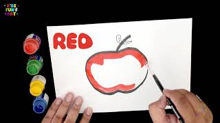 Learn Colors with Apple for Kids | How to Draw Apple | Little Star Fun Art