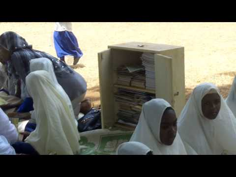 School library in a box on Pemba island, Tanzania