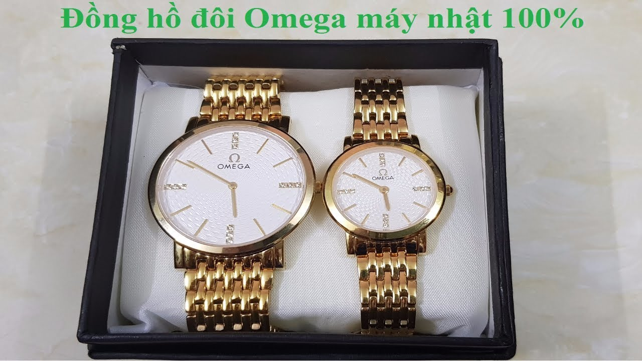 Cặp đồng hồ Omega cực đẹp, dây vàng, mặt kính saphire chống sước, chịu nước đi mưa || 0985418496