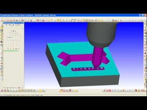 Licom AlphaCAM 3D Gravur fräsen (CAD-CAM-CNC)