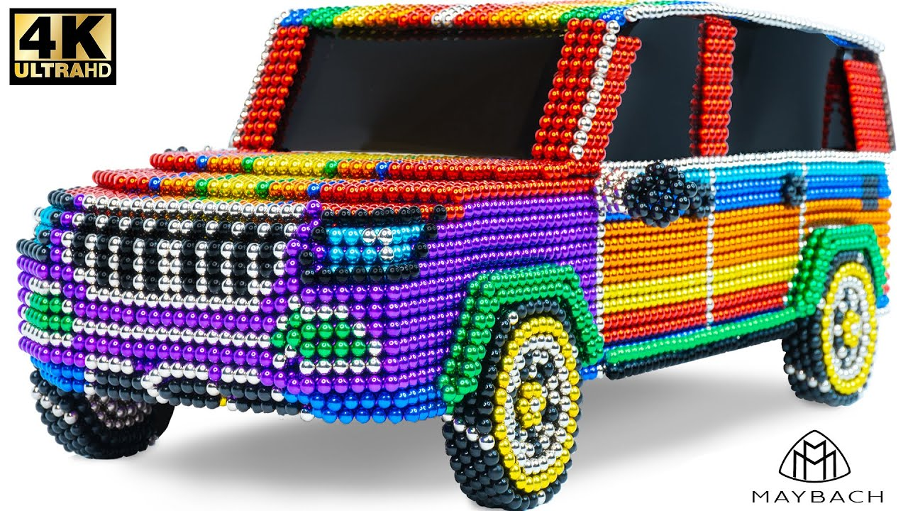 How to Make Mercedes Gls 600 Maybach SUV Car From Magnetic Balls ( Satisfying ) | Magnet Satisfying
