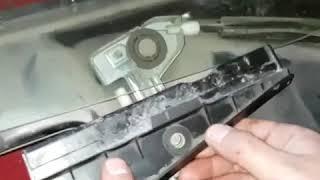 Замена бокового стекла переднего на Audi 80