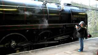 DUKE OF GLOUCESTER STANDS AT BURY EAST LANCS TRANSPORT STEAM WKEND 27-2-11 031.AVI