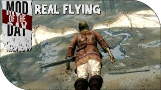 Skyrim Mod of the Day - Episode 275: Real Flying w/ Gliding & Collisions!