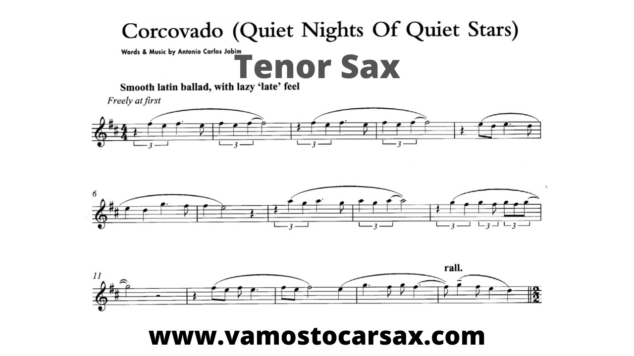 CORCOVADO [tenor sax] ANTONIO CARLOS JOBIM