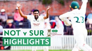 Ashwin Takes 12 and Virdi 14 in Spin-fest | Notts v Surrey | Specsavers County Championship