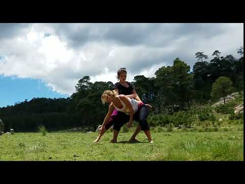 Contact Improvisation Duo In Nature   Mexico