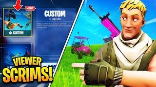 Fortnite CUSTOM Matchmaking LIVE EU SOLO DUO AND SQUADS! MOD giveaways every 5 SUBS!!