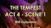 The Tempest By William Shakespeare Act 4 Scene 1 Youtube Paraphrase