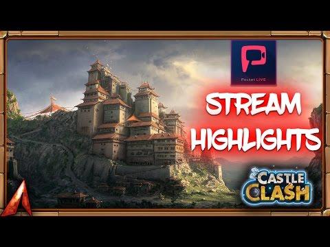 Castle Clash Livestream Highlight! Guild Wars run!