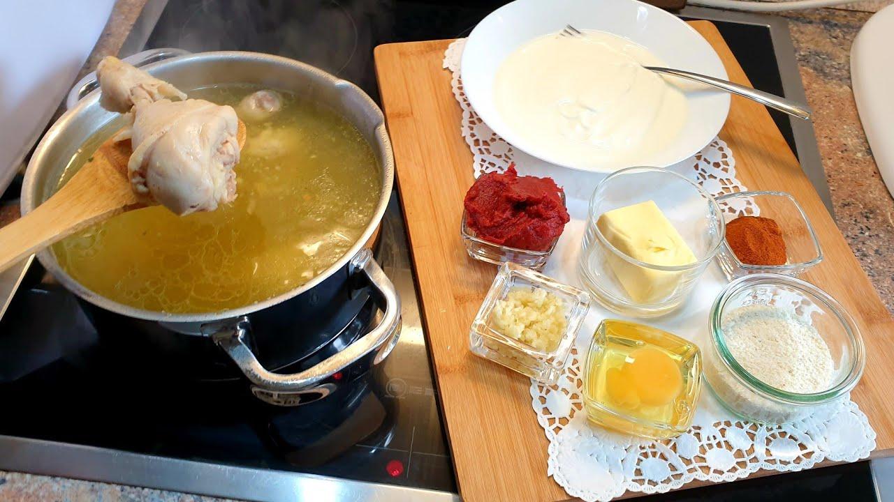 Download 😍Çorb Me Mish te Pules,me Miell Misri,Drek e lehtë me plot shije,Hühner Suppe, mit super Geschmack 😍