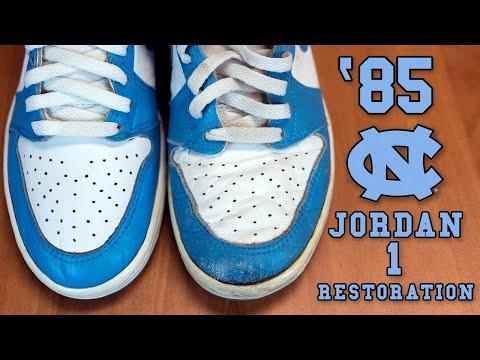 Restorations With Vick - Original 1985 Air Jordan UNC 1 Restoration