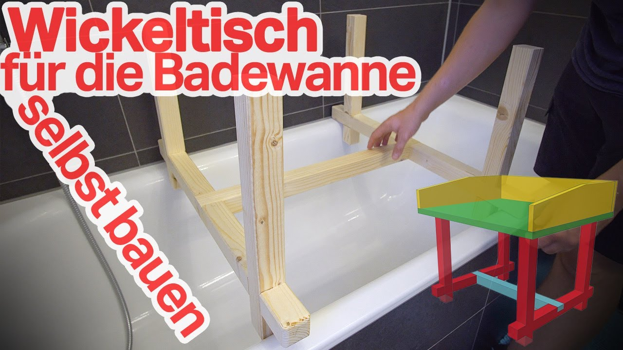 Wickelaufsatz Für Die Badewanne Selber Bauen Diy 12 Youtube
