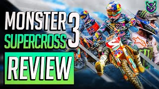 Monster Energy Supercross 3 Switch Review - MOTOCROSS MAYHEM! (Video Game Video Review)