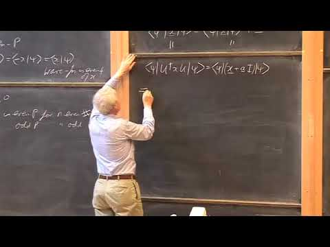 Oxford   Lecture 11 Transformation of Operators and the Parity Operator